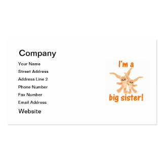 I'm a big sister (orange bunnies) business card