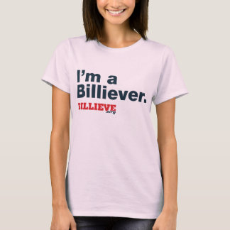 """""""I'm a Billiever"""" Pink Tee"""