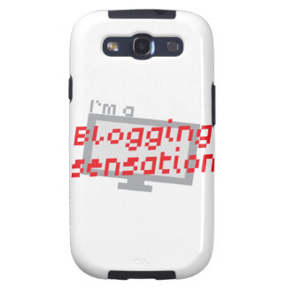 I'm a blogging SENSATION with digital computer scr Samsung Galaxy S3 Case