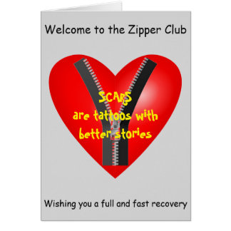 I'm a bona fide member of the Zipper Club Greeting Card