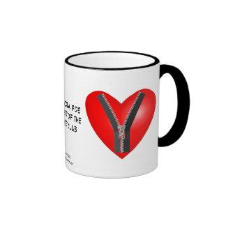 I'm a bona fide member of the Zipper Club Ringer Coffee Mug