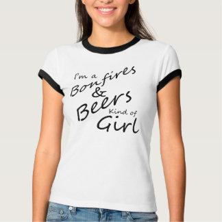 Im A Bonfires and Beer Kind Of Girl Ringer Shirt