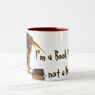 I'm a Book DRAGON, Not a worm Two-Tone Coffee Mug