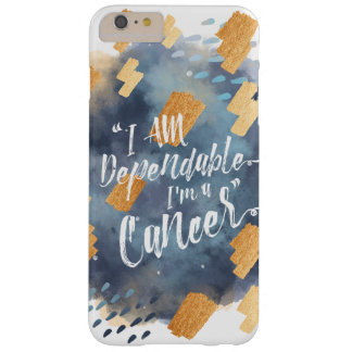 """""""I'm a Cancer"""" Zodiac Grey & Gold Watercolour Barely There iPhone 6 Plus Case"""