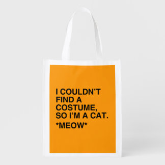 I'M A CAT COSTUME - Halloween -.png Grocery Bag