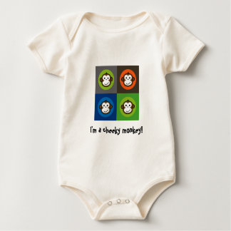 I'm a cheeky monkey! Pop Art Style! Baby Bodysuit