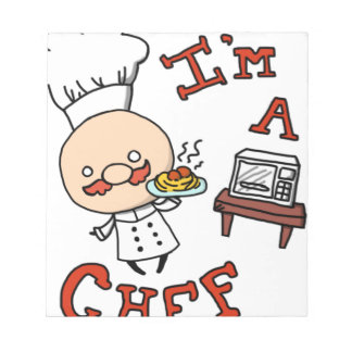 I'm a chef! notepad