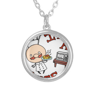 I'm a chef! silver plated necklace