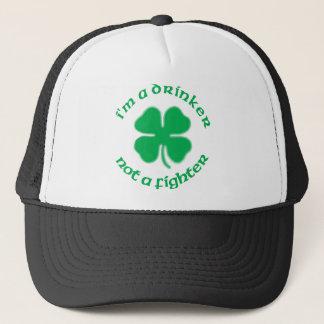 I'm A Drinker Not A Fighter Trucker Hat