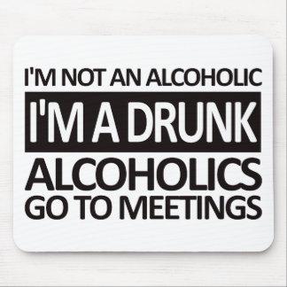 I'm A Drunk - Black Mouse Pad