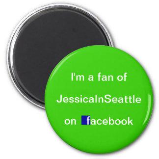 I'm a Fan 2 Inch Round Magnet