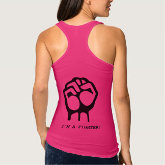 """I'm a fighter"" Girl power tank top"