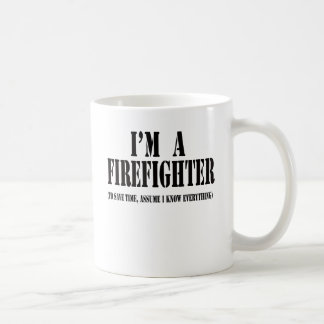 I'm a firefighter black coffee mug