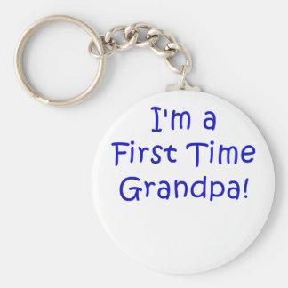 Im a First Time Grandpa Keychain