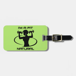I'm A Fit Natural- Black Luggage Tag