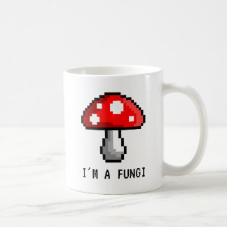 I'm a Fungi Pixel Mushroom Mug