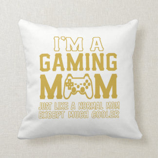 IM A GAMING MOM THROW PILLOW