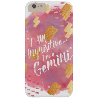 """""""I'm a Gemini"""" Zodiac Pink Rose & Gold Watercolour Barely There iPhone 6 Plus Case"""