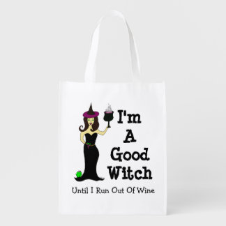 I'm A Good Witch Until I Run Out Of Wine Market Tote
