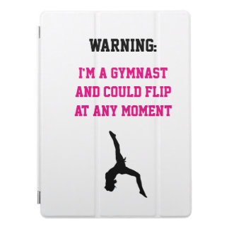 I'm a Gymnast Magenta Gymnastics Fun Quote Flip iPad Pro Cover