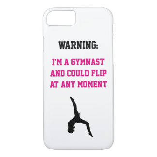 I'm a Gymnast Magenta Gymnastics Fun Quote Flip iPhone 8/7 Case