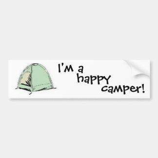 I'm a happy camper bumper sticker