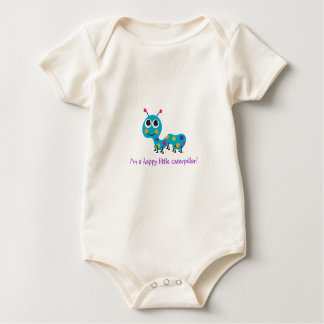 """I'm a happy little caterpillar"" Baby Bodysuit"