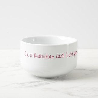 I'm a Herbivore! Soup Mug