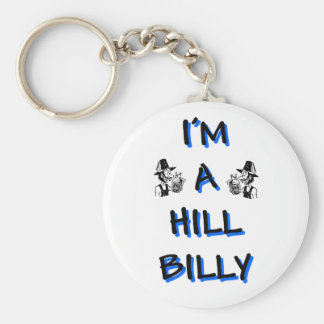 I'm a hillbilly basic round button keychain