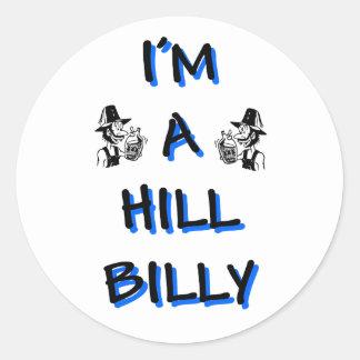 I'm a hillbilly round sticker