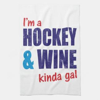I'm A Hockey & Wine Kinda Gal Kitchen Towel