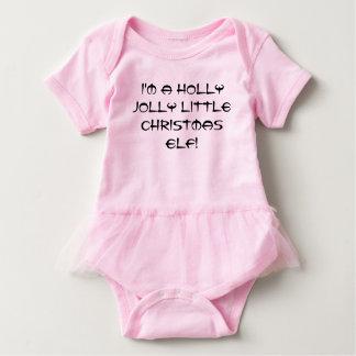 I'm a holly jolly litle Christmas elf! Baby Bodysuit