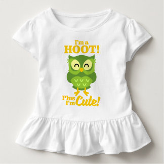 I'm A Hoot Plus I'm Cute Owl Gift Toddler T-shirt