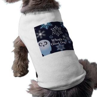 I'm A Hoot Snowy Owl Christmas Owl Blue Dog T-shirt