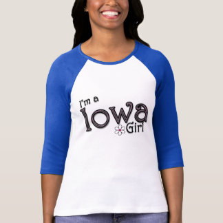 I'm a Iowa Girl, Flower, Blue T-Shirt