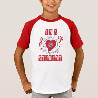 I'm A JLMS Student Retro Striped Sleeve V-Neck T-Shirt