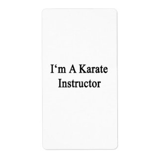 I'm A Karate Instructor Custom Shipping Label
