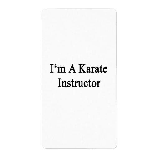 I'm A Karate Instructor Custom Shipping Label