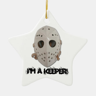 I'M A KEEPER! CERAMIC ORNAMENT