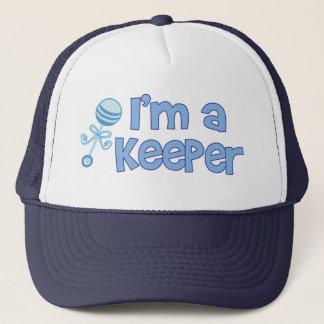 I'm a keeper (new boy) trucker hat
