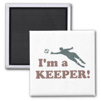 I'm a Keeper Soccer Goalie Refrigerator Magnet