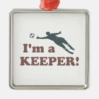 I'm a Keeper Soccer Goalie Metal Ornament