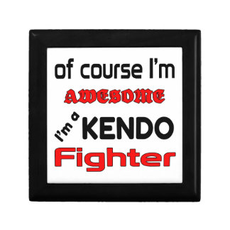 I'm a Kendo Fighter Keepsake Boxes
