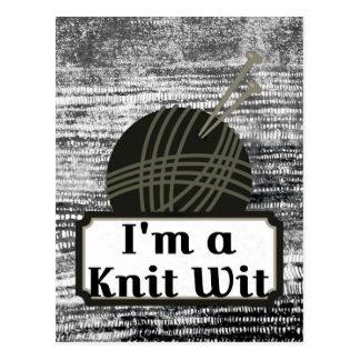 I'm a Knit Wit: A Creative Motiva Postcard