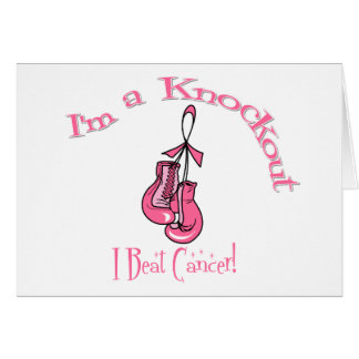 I'm A Knockout I Beat Breast Cancer Greeting Card