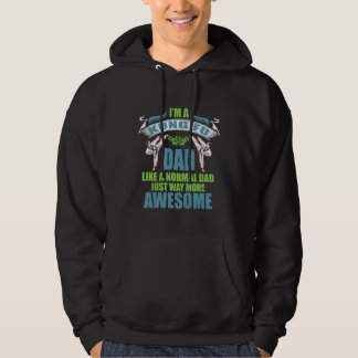 I'm A Kung Fu Dad Like A Normal Dad More Awesome Hoodie