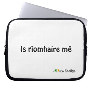I'm a Laptop Irish Gaeilge Language Sleeve Laptop Computer Sleeves