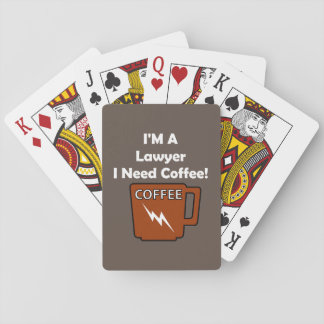 I'M A Lawyer, I Need Coffee! Playing Cards