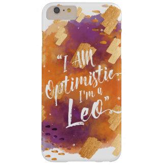 """""""I'm a Leo"""" Zodiac Orange Purple Gold Watercolour Barely There iPhone 6 Plus Case"""
