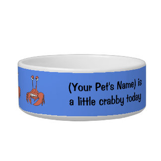 I'm a Little Crabby Today Cat Water Bowl